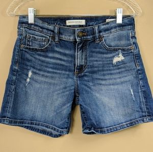 Banana Republic Premium Denim Roll-Up Short Sz 25